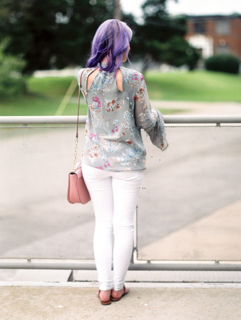 Houston Blogger, Style Blog, Gracefully Sassy, Fashion Blogger, Houston Photographer, Film Photograpgher, Casual chic, Florals, Spring, Bell Sleeves, Charming Charlie, Tory Burch, American Eagle