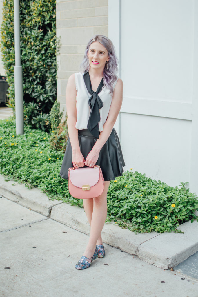 Houston Blogger, Houston Photographer, Shein, Charming Charlie, Style Blogger, Fashion Blogger, Steve Madden, Loafers, Leather Skirt