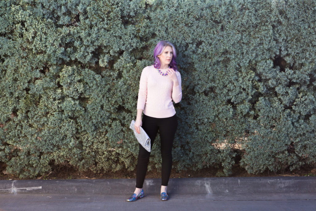 Fashion Blogger, Fashion blog, style blogger, style blog, glitter loafers, steve madden, kate spade, pink sweater, houston photographer