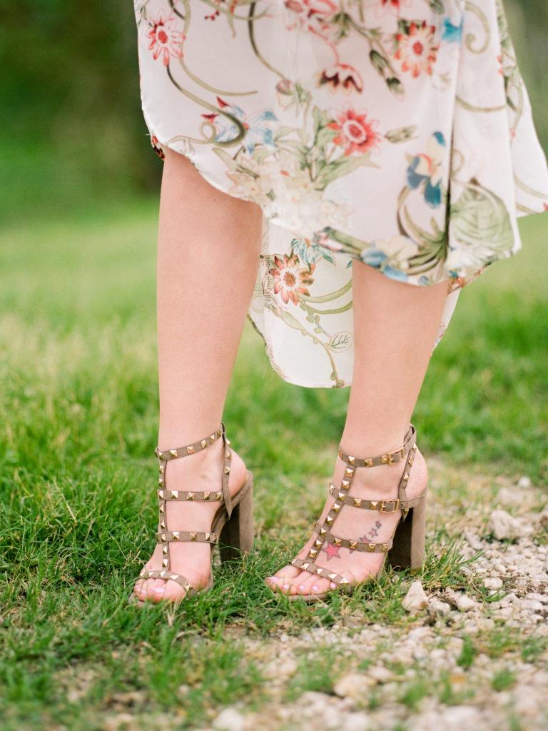 Houston Blogger, Style Blog, Style Blogger, Fashion Blog, Fashion Blogger, Houston Photographer, Film Photographer, Fuji Film, Shop Hope's, Gracefully Sassy, Pravana, Spring Dress, Cold Shoulder Dress, Ruffled Dress, Vici Dolls, Studded Sandals, Vici Collection, Valentino Dupes