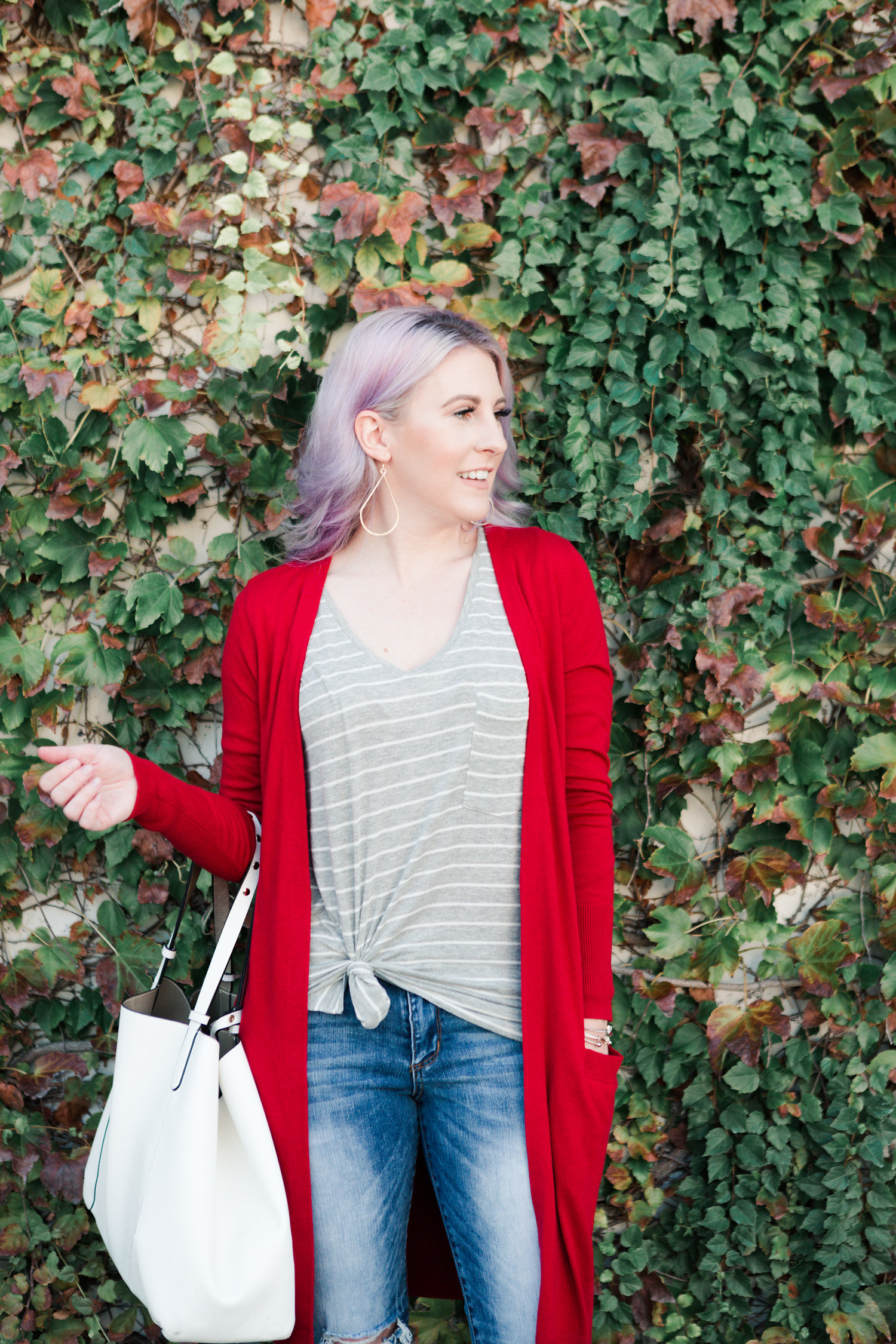 fall cardigan, transitional style, halogen, style blogger