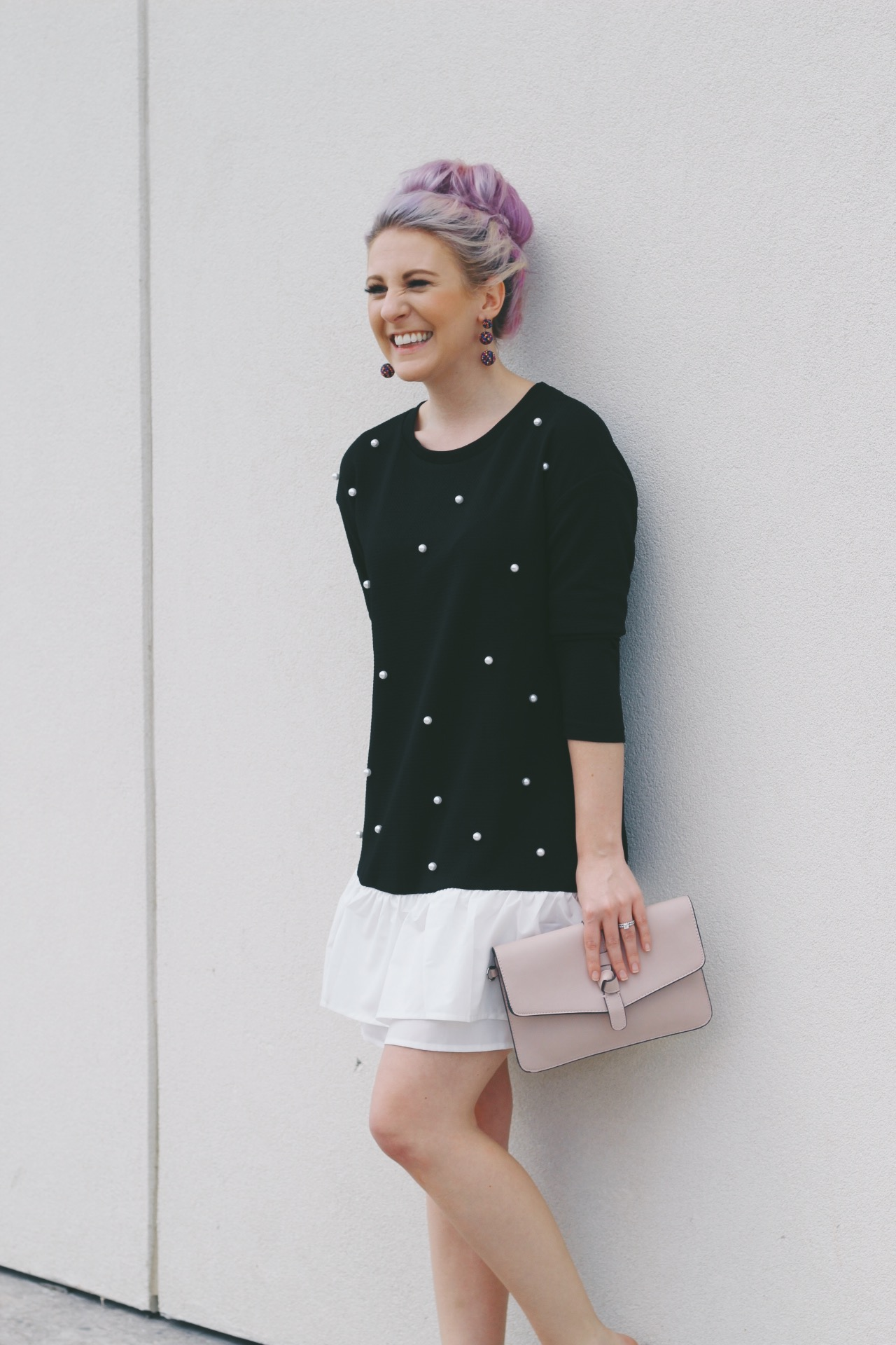SheIn Pearl Dress by Houston fashion blogger Gracefully Sassy