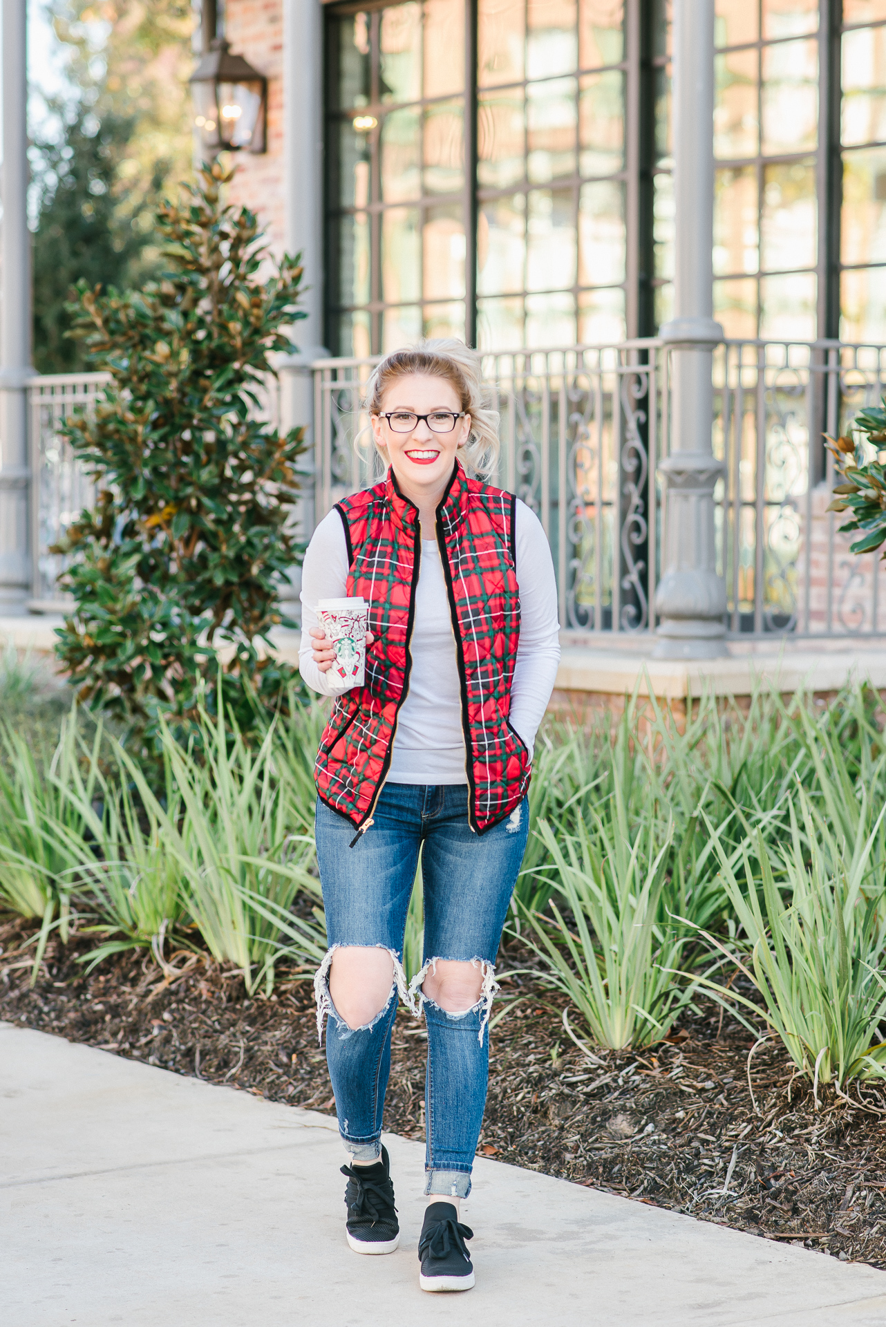 plaid vest, old navy vest, jcrew plaid vest, nordstrom