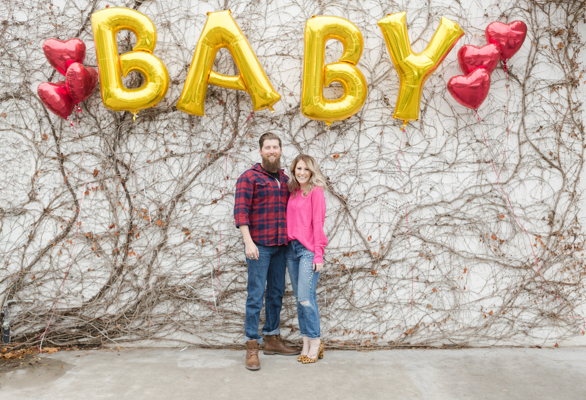 valentine's baby announcement, pregnancy announce, first trimester